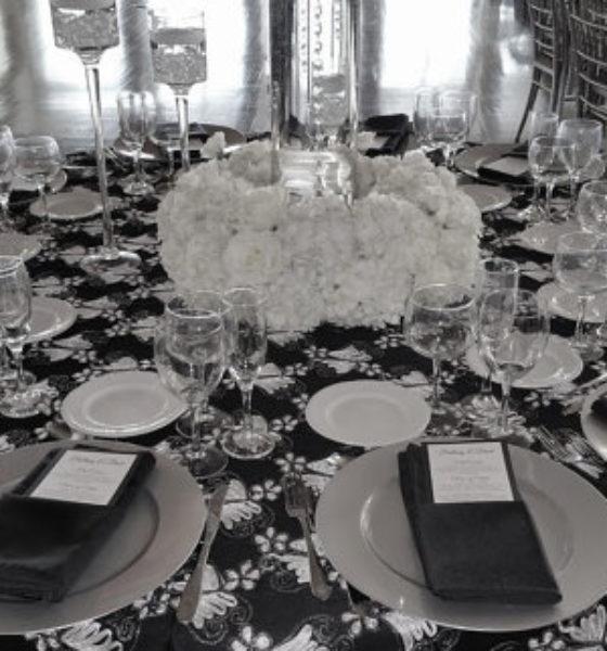 Dekoracje ślubne – czarno białe wesele