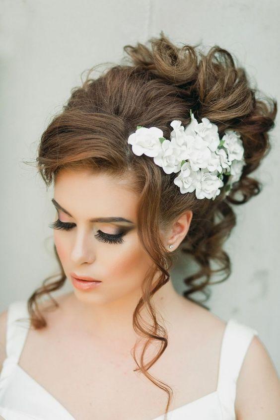 makijaż ślubny z brazem