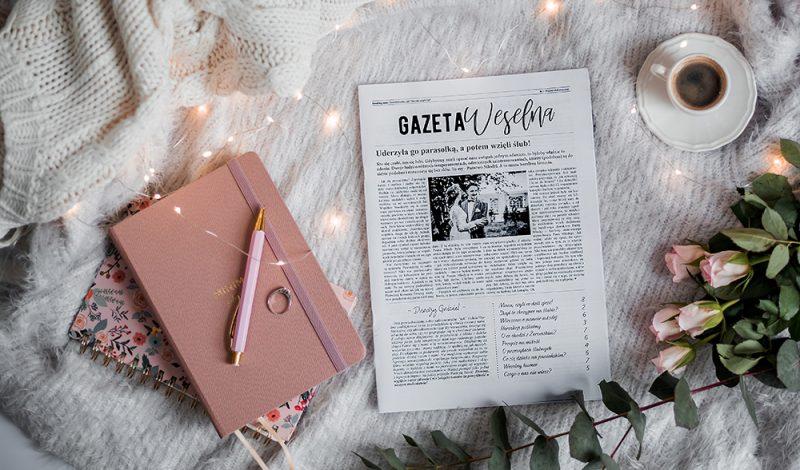 Nietypowa atrakcja na wesele, czyli spersonalizowana gazeta